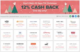 Earn 12% Cash Back At Ebates - 12 Days Till Christmas Promo (Bonus ... Mobile Shopping Offers Better Than Coupons Ibottacom Newmobshoppingretailers Top Coupon Sites For Best Seo Hot Luvs Diapers As Low Only 197 After Cash Back Hip2save Barnes Noble Mastercard Benefits And Big5 Target Shoppers Aveeno Baby Products Only 199 Ibotta Extra Promotion Up To 20 On Various Brand Seventh Generation Hand Wash 167 Ebates Reviewearn Christmas Shoppingthe Daily Change Jar Be A Paid Pupil How To Earn On Your Textbooks Ebatescom