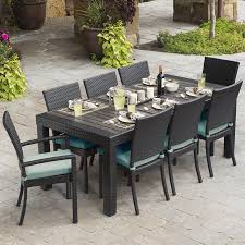 RST Brands Deco 9-Piece Brown Wood Frame Wicker Patio Dining Set ... Tortuga Outdoor Portside 5piece Brown Wood Frame Wicker Patio Shop Cape Coral Rectangle Alinum 7piece Ding Set By 8 Chairs That Keep Cool During Hot Summers Fding Sea Turtles 9 Piece Extendable Reviews Allmodern Rst Brands Deco 9piece Anthony Grey Teak Outdoor Ding Chair John Lewis Partners Leia Fsccertified Dark Grey Parisa Rope Temple Webster 10 Easy Pieces In Pastel Colors Gardenista The Complete Guide To Buying An Polywood Blog Hauser Stores
