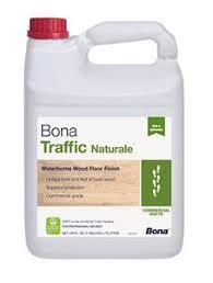 Bona Water Based Floor Sealer by Bona Traffic Naturale Matte Water Based Wood Floor Finish 1 Gallon