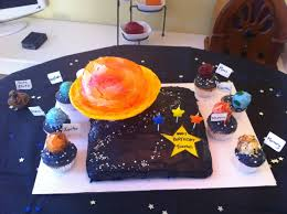 Michaels Cake Decorating Classes Edmonton by Saturn Cake And Solar System Cupcakes Thomas U0027 3rd Birthday Party