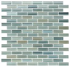 reflections painted glass mosaic subway tile contemporary