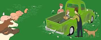 100 Green Truck Julia Kuo Editorial Book Illustrator Nature Travel