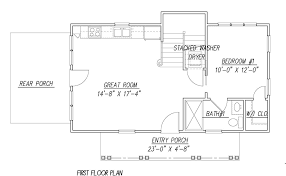 katrina cottage 1441 3 bedrooms and 2 5 baths the house designers