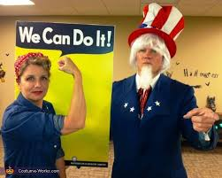 Rosie The Riveter Halloween Diy by Rosie And Uncle Sam Costume Photo 2 2