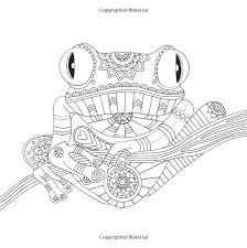 Tree Frog Tropical Wildlife Coloring Pages Colouring Adult Detailed Advanced Printable Kleuren Voor Volwassenen Coloriage Pour