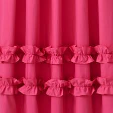 Light Pink Ruffle Blackout Curtains by Pink Ruffle Curtain The Land Of Nod