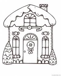 Christmas Gingerbread House Coloring Pages Coloring4free Free Printable