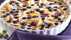 pfirsich blaubeer tarte saftiger obstkuchen