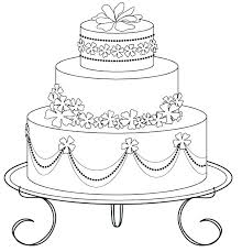 New Birthday Cake Coloring Page Printable Image Pages Preschool Color Presc