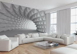 wand mit fototapete gestalten minimalistische tunnel