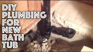 Tub Drain Assembly Diagram by Bathtub Plumbing New Installation Youtube