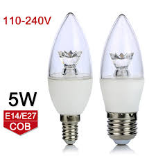 new arrival e27 e14 led l bulb 5w cob led light ac110v 220v