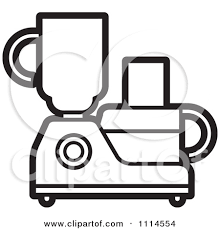 Clipart Green Kitchen Food Processor Or Blender Black And White