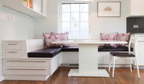 Banquette Seating With Storage Plans Bench At Dining Table Chest Upholstered Kitchen Built In Corner