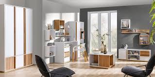 wohnzimmer komplett set f lefua 14 teilig farbe weiß nussfarben
