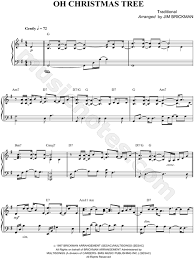 Jim Brickman Oh Christmas Tree Sheet Music Piano Solo In G Major