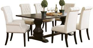 Cassidy Rustic Espresso 7-PC Dining Set Coaster Jamestown Rustic Live Edge Ding Table Muses 5piece Round Set With Slipcover Parsons Chairs By Progressive Fniture At Lindys Company Tips To Mix And Match Room Successfully Kitchen Home W 4 Ladder Back Side Universal Belfort Bradleys Etc Utah Mattrses Fine Parkins Parson Chair In Amber Of 2 Burnham Bench Scott Living Value City John Thomas Thomasville Nc Hillsdale 4670dtbwc4 Coleman Golden Brown
