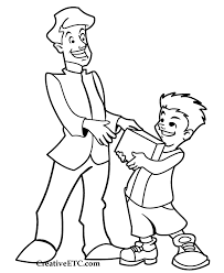Fathers Day Coloring Page Giving
