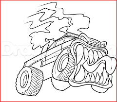 100 Monster Truck Drawing How To Draw A 83368 How To Draw A Tattoo Step By
