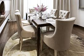 Padded Verdi Chairs At Walnut Table