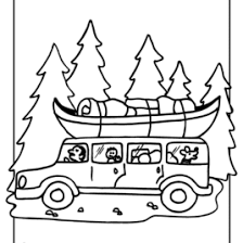 Camping Coloring Sheets Pages Toddlers