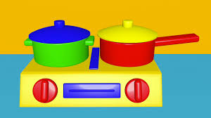 Learn Colors With Toy Kitchen Set Vegetables Sausages Chicken English Words
