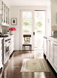 Galley Kitchen Vintage Persian Rug French Door Balcony Country Style Ba E D