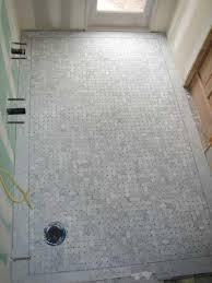 marble basketweave tile bathroom home design