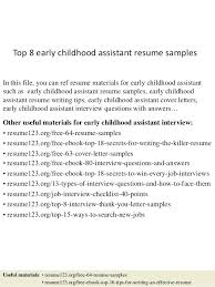 Resume Examples For Early Childhood Teachers Packed With Teacher Resumes Co To Produce Perfect