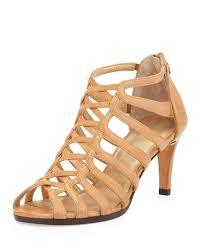 Bed Stu Juliana by Stuart Weitzman Exes Strappy Cage Leather Sandal In Brown Lyst