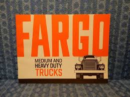1964-1965 Fargo Medium & Heavy Duty Trucks Original Sales Brochure ...