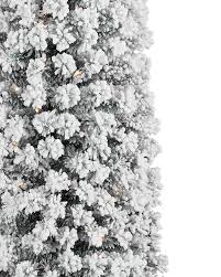Pre Lit Pencil Cashmere Christmas Tree by Flocked No 2 Pencil Christmas Tree Treetopia
