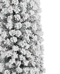 Flocked Pre Lit Pencil Christmas Tree by Flocked No 2 Pencil Christmas Tree Treetopia