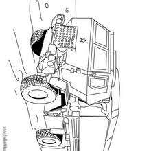 Combat Car Army Truck Coloring Page