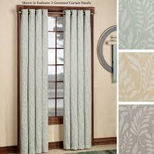 Curtain Rod Grommet Kit by Meadow Fern Motif Grommet Curtain Panels