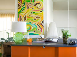 Decorating Office Walls Awesome Pretty Canvas Portray Added White Wall Painted And Modern