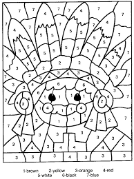 Color Number Printable Coloring Pages