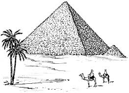Pyramid Coloring Pages Draw In Picture Food Page Free
