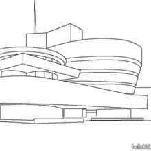 Guggenheim Museum Coloring Page