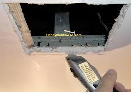 Ceiling Joist Span For Drywall by How To Repair Drywall Ceiling Water Damage Repair Panel Bracing