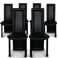 chaise salle a manger noir 6 chaise moderne pas cher chaise de