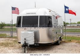 Airstream Trailer At A Dealership In The USA