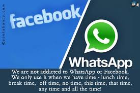 We Are Not Addicted To WhatsApp Or Facebookbr Only Use