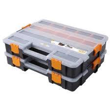 Hdx Plastic Storage Cabinets by Hdx 15 Compartment Interlocking Organizer Black 2 Pack 320034