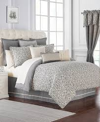 Macys Com Bedding by Waterford Charlize Gray Bedding Collection Bedding Collections