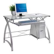 glass wood computer desk glass top pc desk round glass desk small