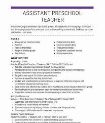 Assistant Preschool Teacher Objectives