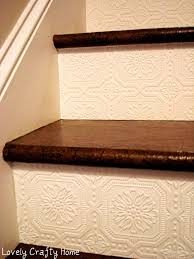 Textured Wallpaper On Stair Risers