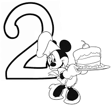 Mickey Mouse Minnie Coloring Pages At Happy Birthday