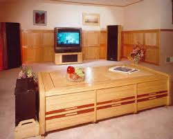 woodworking plan for a custom coffee table housing home theater